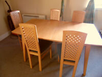 DINING TABLE + 5 CHAIRS for £40. VERY GOOD CONDITIONS!