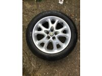 Alfa Romeo 147 16 inch alloy wheel with tyre