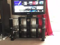 TV Stand Black Glass - Good Condition