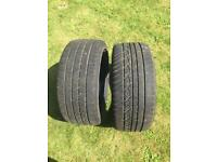 2x 225 40 18 tyres