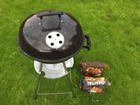 Portable Barbeque BBQ +Charcoal