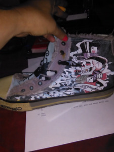 Ed Hardy converse shoes