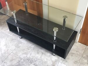 TV Stand - Black with Glass top