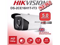 HIKVISION 5MP DS-2CE16H1T-IT3 Bullet Camera Fixed Lens HD 1080p HDTVI