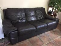 3 person faux leather sofa