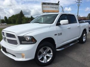 2014 RAM 1500 Sport Crew w/NAV and absolutely LOADED! Air Con...