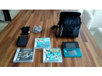 Nintendo 3ds console plus games