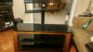 3 level glass tv stand