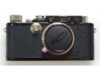 Lovely Leitz black painted Leica III with nickel Elmar lens