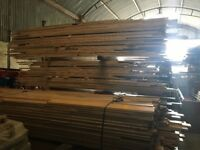 Large quantity of junkers t&g beech reclaimed flooring