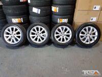 "16"" VW Twin Spoke Alloy Wheels will fit VW Jetta, Golf MK5, MK6, MK7, Caddy, Touran"
