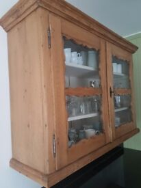 Gorgeous antique distressed wooden cabinet, great condition, comes with key, content not included!