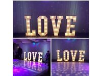 **4ft Light Up Letters Carnival LOVE sign - Perfect for Weddings and Engagements**