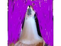 Ivory wedding dress 18-22