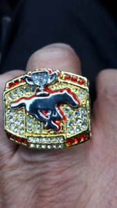 Replica stamps grey cup ring