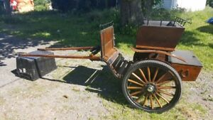 GORGEOUS AMISH MINIATURE HORSE CART FOR SALE