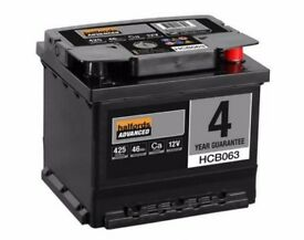 FOR SALE - Halfords Calcium Car Battery HCB063 - Brand New
