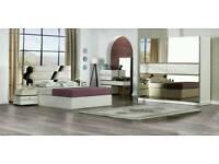 £999!!BEDROOM SETTEE (WARDROBE+2BEDSIDE+CHEST OF DRAVER +BED+HEADBOARD)