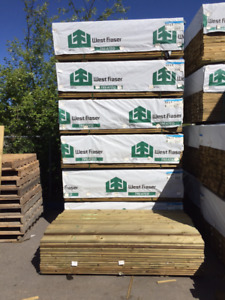 Clearance Green Treated Fencing and Decking Material & More