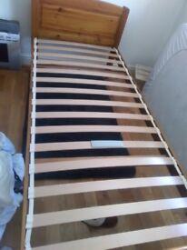 REYLON pine bed frame.excellent condition ..