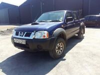 breaking blue 2003 nissan navara double cab 2.5 di yd25 4x4 parts spares