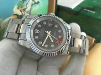 New Swiss Men's Rolex Datejust 2 Perpetual Automatic Watch, Black Dial