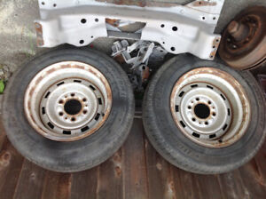 Chev rally rims with two 4x4 centres