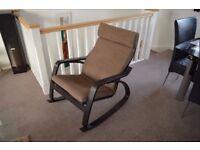 POÄNG Rocking chair - brown / cream colour