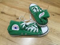 Converse green trainer boots