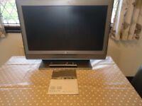 "Sony Bravia 26"" LCD TV with Panasonic Blu-Ray player"