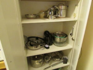 11 piece Pots and Pans,Stainless Steel, with encapsulated copper