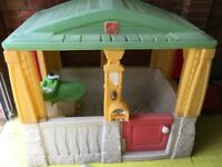 Plastic playhouse for the garden