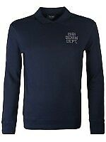 Armani Jeans Chest Logo Polo Sweatshirt Navy (new with tags)