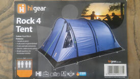 Hi Gear Rock 4 Man / Person Tent - Only used once - Blue