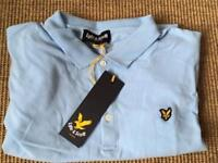 Brand New With Tags Blue Lyle and Scott Polo Shirt Large