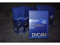 FOR SALE 7 X SONY PDVM 40MIN TAPES FOR SALE