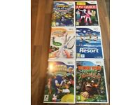 6 various Wii video games