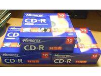 3 NEW PACKS OF 10 MEMOREX CD-R RECORDABLE CD'S IN SLIMLINE CASES