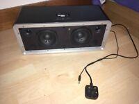 iWantit SPEAKER SYSTEM iPOD8010 BLACK - iPod & iPhone 4/4S/3GS docking station