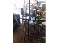 7 wheeley clothing rails