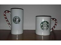 Starbucks cappucino and latte mugs ltd edt
