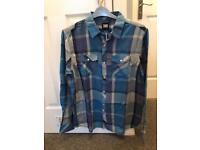 Animal Long Sleeve Shirt Blue Size Large