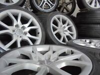 18inch genuine b8 SPIDER alloys wheels audi a4 a6 a5 a8 a3 5x112 golf vw caddy t4 t3 s line
