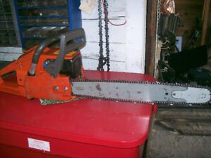 "Husqvarna 257  chainsaw 20""bar and chain"