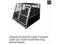 Aluminium dog crate (large)