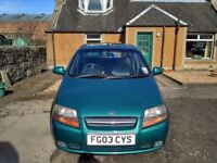 Daewoo Kalos petrol 1.4 8v SX 5dr for sale