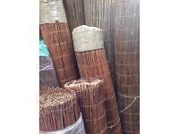 Premium willow screening 1.2m, 1.5m, 1.8m or 2m high