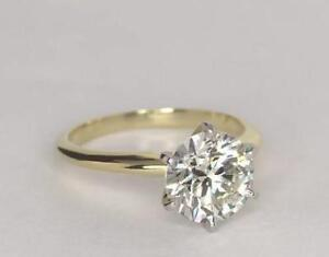 CERTIFIED 2ct Solitaire REAL ENHANCED DIAMOND Engagement Ring