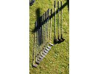 full set of Jean Donald slazenger irons plus 3 ryder woods