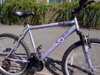 Apollo FemTB Lilac Mountain bike, 20'' frame suit approx 5'8''+